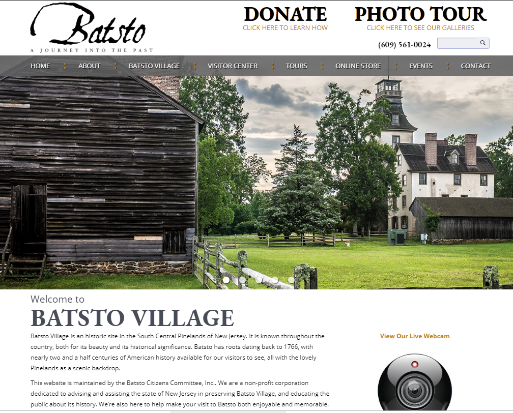 Batsto Gets New Website
